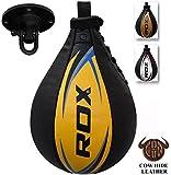RDX Cuir De Vachette Boxe Poire De Vitesse Frappe Entrainement MMA Speed...