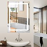 Miroir de Salle de Bains, Miroir de Maquillage de bâti de Mur de LED 5050 avec Le...