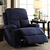 Furny Elisse One Seater Living Room Single Seater Recliner (Blue) Manual Recliner with German Recliner Mechanism