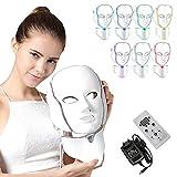 NBD 7 Couleur LED Masque luminothérapie LED Masque Photon avec Cou, Beaut du visage Soins de...