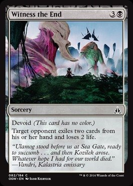 A single individual card from the Magic: the Gathering (MTG) trading and collectible card game (TCG/CCG). This is of Common rarity. From the Oath of the Gatewatch set.
