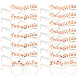 Konsait Enterrement Team mariée Or Rose Lunettes X 16, 2 Bride + 14 Team...