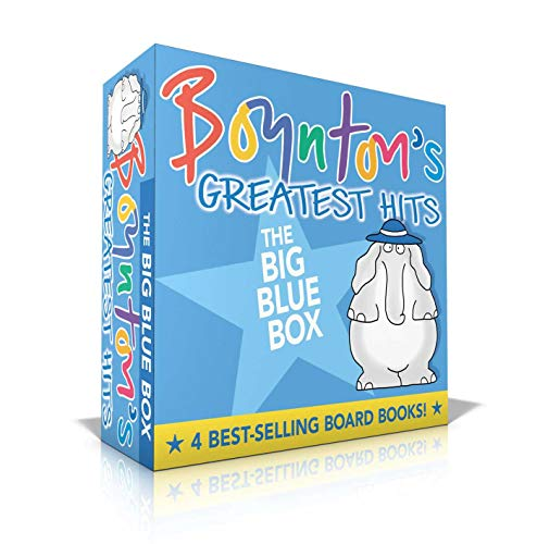 Boynton's Greatest Hits The Big Blue Box: Moo, Baa, La La La!; A to Z; Doggies; Blue Hat, Green Hat (Boynton Board Books)