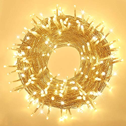 Elegear Luci Natale Esterno 100M 500 LEDs Impermeabile Catena Luminosa LED Natale Decorazioni per Camere da Letto Giardino Feste Matrimonio