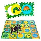Hungry Caterpillar Baby Mat, Puzzle Mat, Baby Play Mat, Foam Mat, 20 Foam Floor Tiles, Foam Puzzle Mat, Non-Toxic, EVA Foam Mat, Girl & Boy, Infant Play Mat Baby Playmat 65 x 52