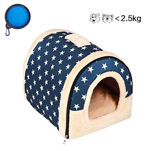 Enko Cuccia/letto 2 in 1 per animali domestici, portatile e pieghevole, elegante e comoda, per uso...