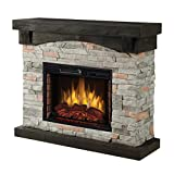 Muskoka 42' Sable Mills Grey Faux Stone Mantel Electric Fireplace