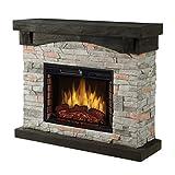 Muskoka 42' Sable Mills Grey Faux Stone Mantel Electric Fireplace