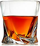 Venero Crystal Whiskey Glasses, Set of 4 Scotch Glasses in Luxury Gift Box, Tumblers for Drinking Bourbon, Cognac, Irish Whisky, Large 10oz Premium Lead-Free Crystal Glass Tasting Cups for Men & Women