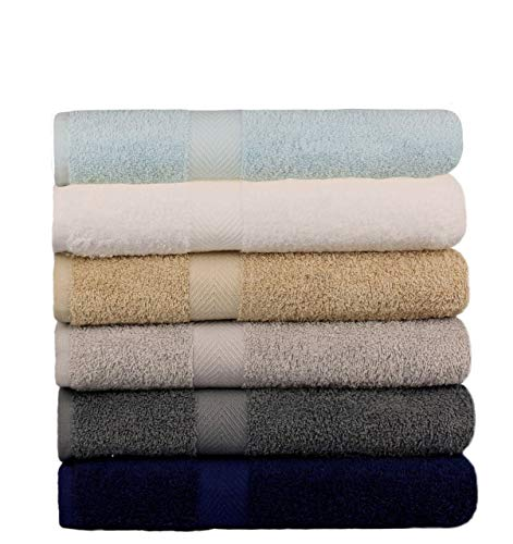 BEST TOWEL 6-Pack Bath Towels - Extra-Absorbent -...
