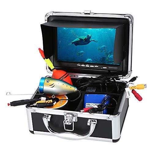 Lixada Ecoscandaglio da Pesca 7 Pollici LCD Fish Finder Impermeabile Subacqueo Pesca Telecamera 24 PCS LED Lampade 15M Cavo per Mare Pesca