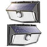 LITOM 300 LED Solar Motion Sensor Lights Outdoor, IP67 Waterproof Solar Powered Security Lights...
