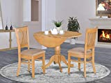 3 Pc Kitchen nook Dining set-Kitchen Table and 2 slat back Chairs