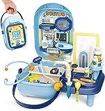 BeebeeRun 34 Piezas Maletin médico Juguete niño,Doctora Juguete Kit,Juego de rol Juguetes educativos niños 3 4 5 años