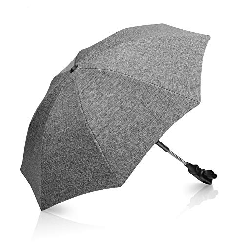 Winload Universal Sonnenschirm kinderwagen, UV Schutz 50+ Sonnenschutz für buggy, kinderwagen regenschirm Wasserabweisend,73cm Durchmesser Babywagen Schirm mit Gerader Schirmgriff