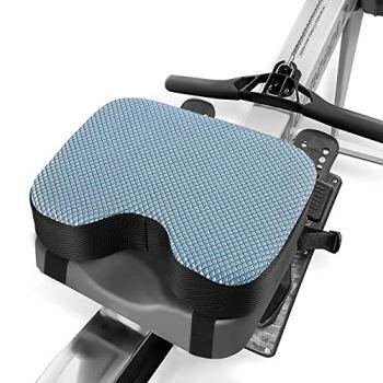 Kohree Rameur Coussin pour machine Concept 2 Coussin de siège Confortable avec mousse à mémoire, housse lavable et sangles, Modèles D et E pour rameur d'intérieur 33*23*8CM