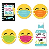 Big Dot of Happiness Goodbye Distance Learning - DIY Shaped Back to School Classroom Decorations Cut-Outs - 24 Count