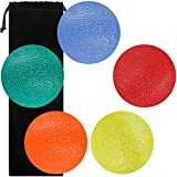 Sourceton Ensemble de 5 balles Fidgets pour le soulagement du stress Forme ronde Poignées et doigts pour la main Renforcement du traitement anti-stress