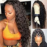 26 Inch Lace Front Wigs Human Hair Water Wave 100% Unprocessed Virgin Brazilian Human Hair Wigs With Baby Hair For Black Women 8a Glueless Lace Front Human Hair Wigs 150% Density Curly Wigs