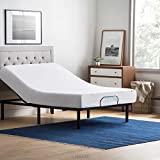 LUCID L100 Adjustable Bed Base Steel Frame - 5 Minute Assembly - Head and Foot Incline - Wired Remote Control - Full