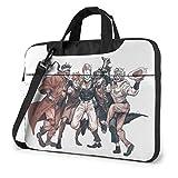 Hdadwy Funda para portátil de 14 Pulgadas, maletín para Tableta Anime JoJo's Bizarre Adventure, ultraportátil, Protector para Hombros, maletín a Prueba de Golpes, Funda para MacBook Pro/Notebook