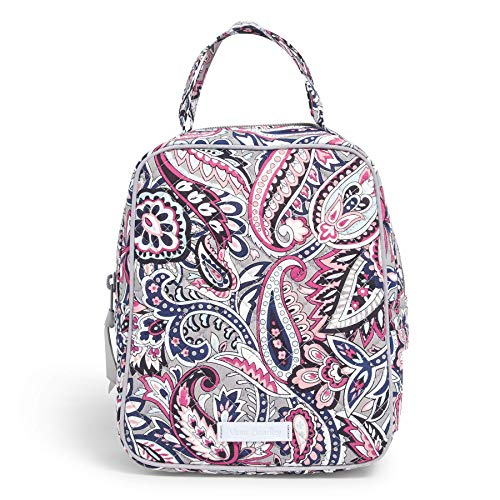 Vera Bradley Women's Signature Cotton Lunch Bunch Lunch Bag, Gramercy Paisley, One Size