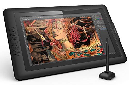 XP-Pen Artist15.6 Écran Graphique IPS avec Gant et Stylet numérique sans Pile (8192 Niveaux de Pression)