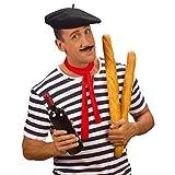 NET TOYS Béret Basque Chapeau français Chapeau de Français Bonnet Basque Chapeau Basque Couvre-Chef Ingo France Accessoire déguisement