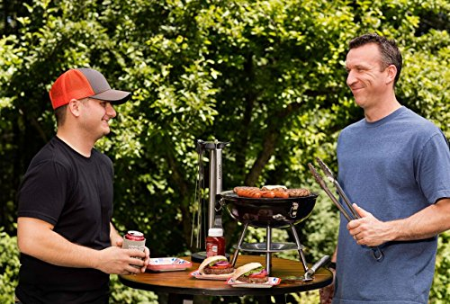 Product Image 4: Cuisinart CCG190RB Portable Charcoal Grill, 14-Inch, Red, 14.5