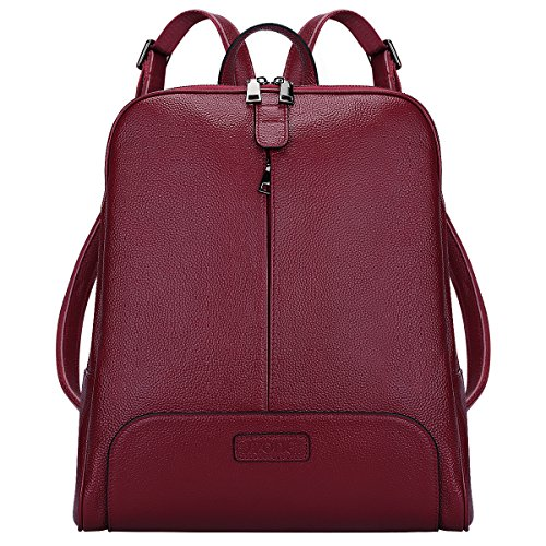 S-ZONE Women Genuine Leather Backpack...
