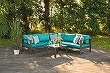 greemotion Lounge-Set Lago, Gartenmöbel-Set aus Aluminium in Anthrazit - 3