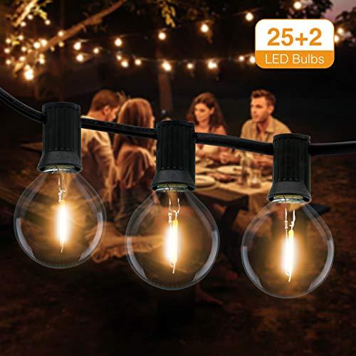 Catena Luminosa Esterno, Litogo 9,5m Luci da Esterno LED Catene Luminose per Esterni con 25+2 G40...