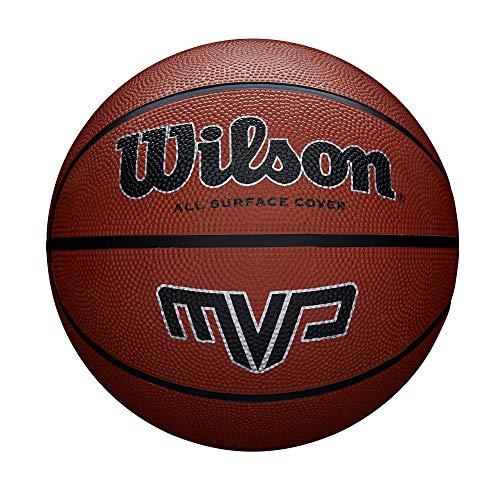 Wilson, Pallone da basket, MVP Basket, Arancione, Misura 5, Gomma, Uso all'interno e all'esterno, WTB1417XB05