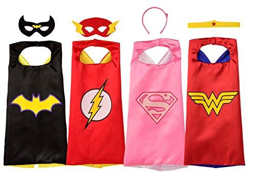 4 Marvel Super Hero Cape Sets