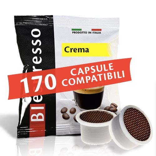 170 Capsule compatibili Lui Espresso Martello Italico Aroma Vero Mitaca mps Fior Fiore Coop miscela Crema Caffè Espresso Italiano Biespresso