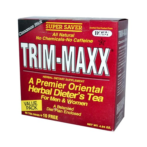 Body Breakthrough Trim-Maxx Herbal Dieter's Tea Cinnamon Stick - 70 Tea Bags, 4.94 oz