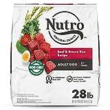 NUTRO NATURAL CHOICE Adult Dry Dog Food, Beef & Brown Rice Recipe Dog Kibble, 28 lb. Bag