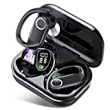 Bluetooth Kopfhörer in Ear, QXQ True Wireless Kopfhörer mit Mikrofon, 56H kabellose kopfhörer mit LED Display, IPX7 wasserdichte Sport Ohrhörer, Touch Control, Deep Bass Earbuds für Übung