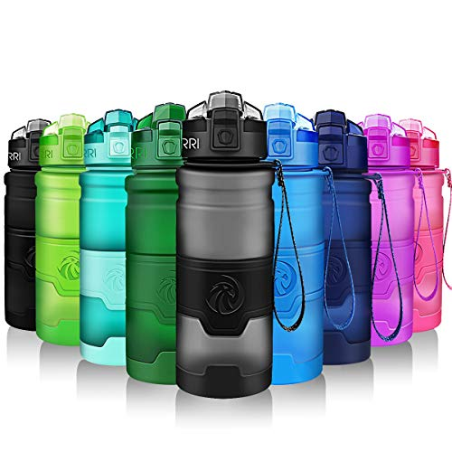 ZORRI Borraccia Sportiva, Tritan in Plastica Riutilizzabile e Senza Fughe BPA-free, Bottiglie d'Acqua Ideali Con Filtro Per Bambini per Bambini, Corsa, Palestra, Yoga, all'Aperto e Campeggio