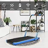 2 in 1 Folding Treadmill, 2.25HP Under Desk Electric Treadmill with Bluetooth Speaker& Remote...