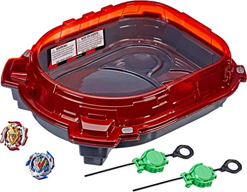 Beyblade Burst Turbo Slingshock Rail Rush Battle Set -- Complete Set with Beyblade Burst Beystadium, Battling Tops, and Launchers (Amazon Exclusive)