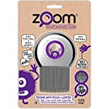 ZOOM Peigne anti-poux et lentes en acier trempé inoxydable, avec loupe....