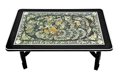 Excelife 86230 Phoenix Design Mother of Pearl Table M, Medium , Black