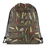 AEMAPE Bolsas con cordón Mochila para señuelos de Pesca Bolsas de Cuerda para Tirar a Granel Almacenamiento Deportivo Gimnasio para Mujeres Mochila de Viaje al Aire Libre