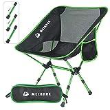 MECHHRE Hauteur Réglable Chaise De Camping Pliable Chaise Pliante avec Sac De Transports pour...