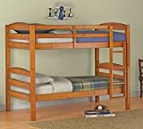 Mainstays Twin Over Twin Wood Bunk Bed, Pine