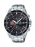 Casio EDIFICE Reloj en caja sólida, 10 BAR, Rojo/Negro, para Hombre, con Correa de Acero...