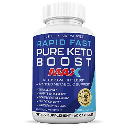 Rapid Fast Pure Keto Boost Max 1200MG Keto Pills Advanced BHB Ketogenic Supplement Exogenous Ketones Ketosis for Men Women 60 Capsules 1 Bottle 1