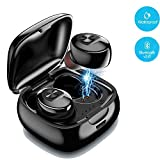 Mini Bluetooth Earbud,IULONEE Wireless Sport Earphone Portable Earpiece Small Invisible Headphone IPX5 Waterproof HiFi 3D Stereo Car Bluetooth Headset with Microphone for Cell Phone (1 Pair,Black)