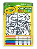 Crayola Kid's Color-In Socks - Includes 1 Pair Of Socks And 4 Fabric Markers by Living Royal (Dinosaur Safari)